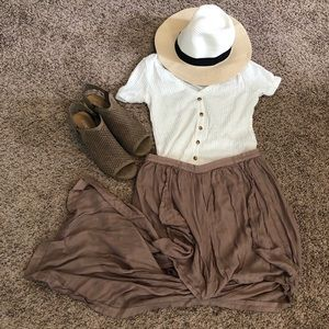 Dresses & Skirts - Taupe high low skirt